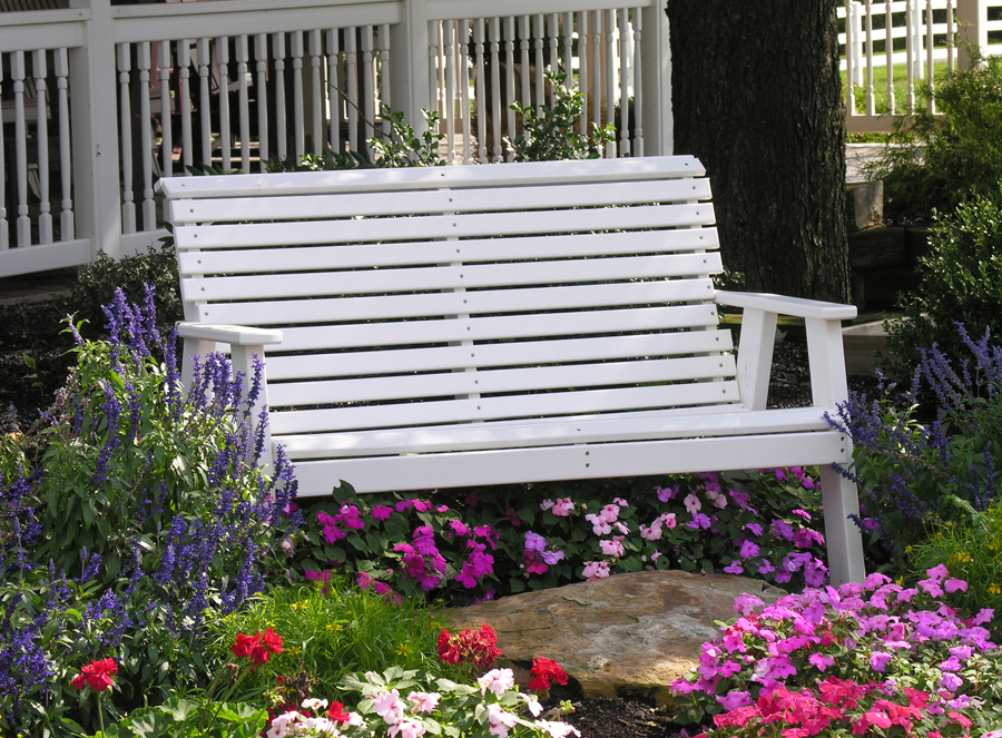 plain bench white tri state outdoor products llc