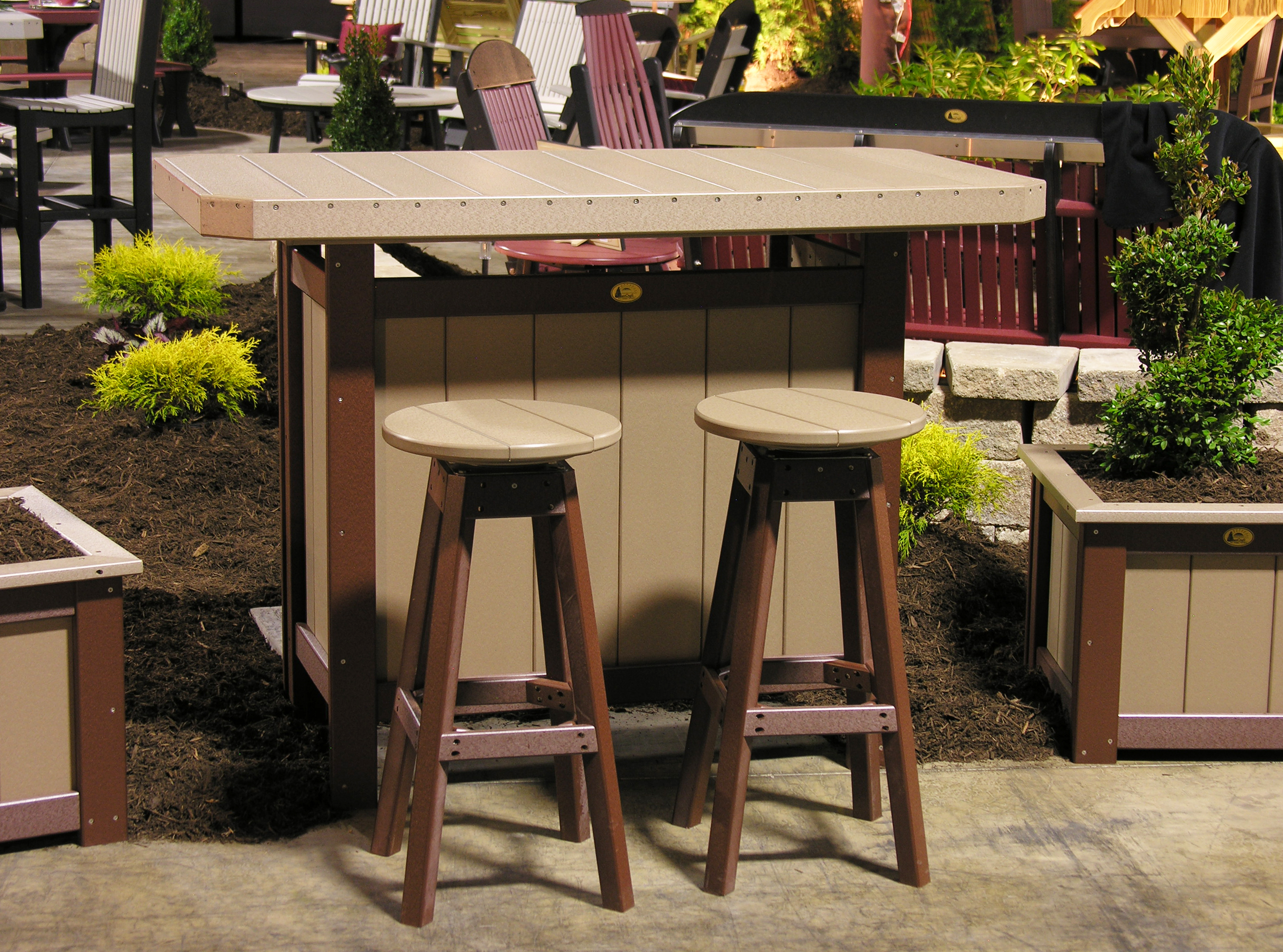 serving bar ww chestnut brown tri state outdoor products llc