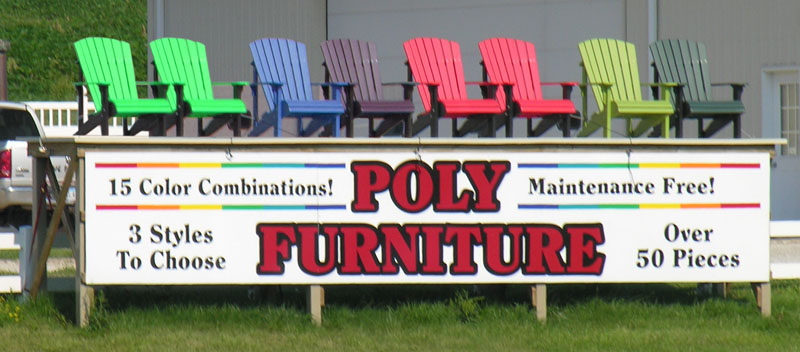 FINE OUTDOOR FURNITURE! Poly Furniture